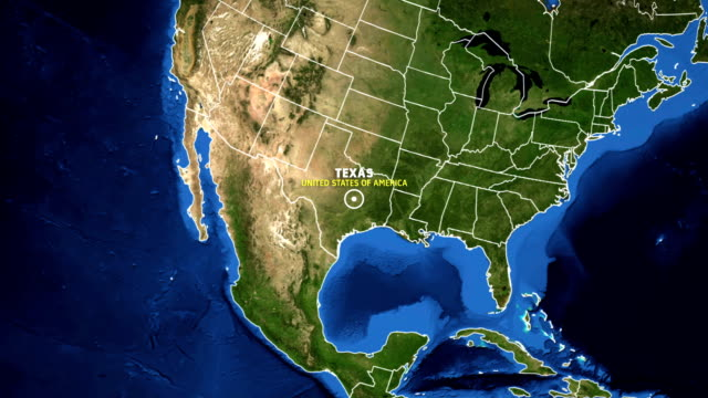 TEXAS Map USA - Earth Zoom video