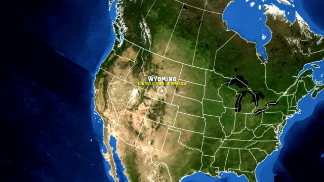 WYOMING Map USA - Earth Zoom video