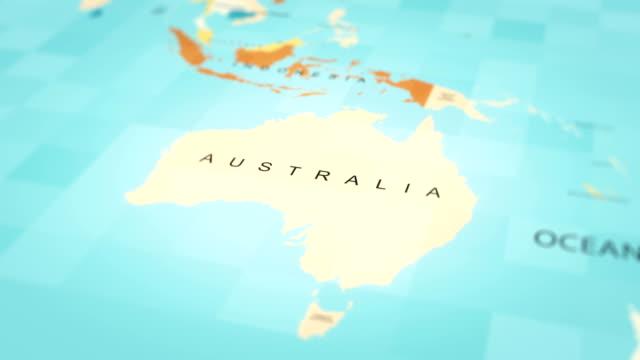 4K Maps Animation. World map. (Australia) 4K Maps Animation. World map. (Australia) oceania stock videos & royalty-free footage