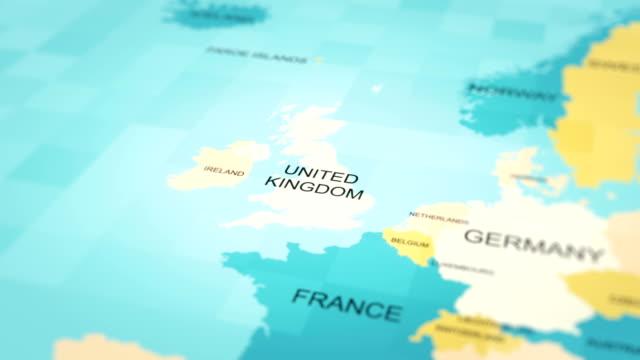4K Maps Animation. World map. (United Kingdom) 4K Maps Animation. World map. (United Kingdom) uk map stock videos & royalty-free footage