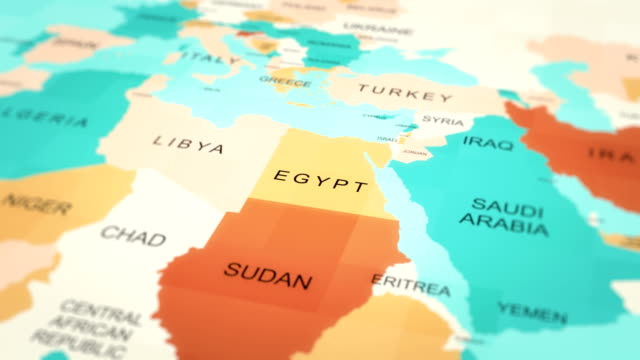 4K Maps Animation. World map. (Egypt) 4K Maps Animation. World map. (Egypt) middle east stock videos & royalty-free footage