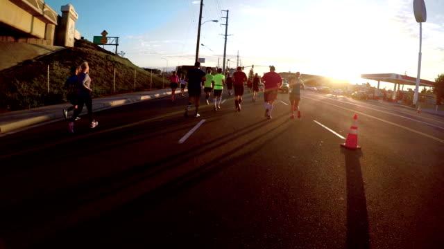 Marathon Runner POV video