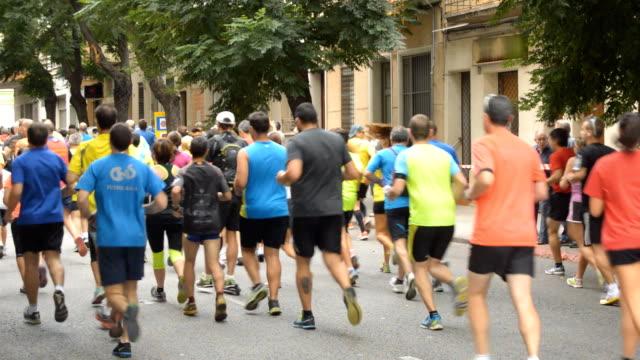 Marathon Runners At City Race video