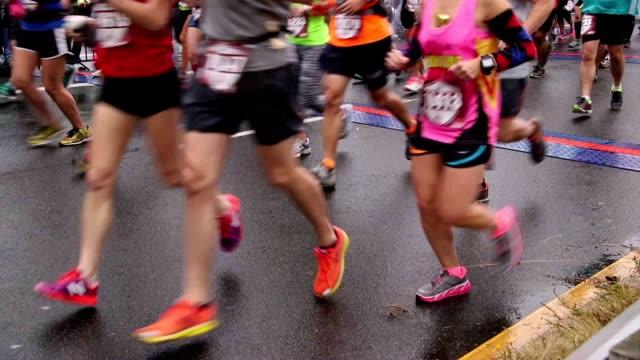Marathon runners video