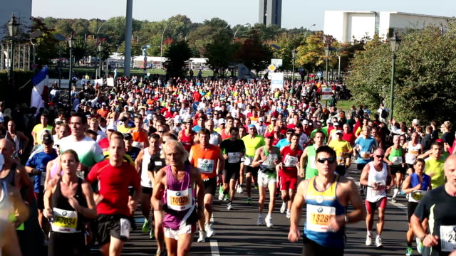 Marathon running  - Real Time video