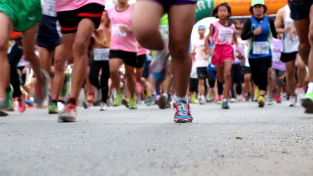marathon - başlama çizgisi stok videoları ve detay görüntü çekimi