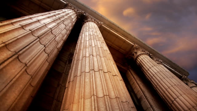 Marble Columns Pan Right to Left video