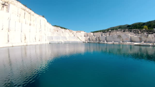 Marble lake pamukkale. Marble mining blocks square water pond surface mountain scenery industry rock extraction lake nature Marble lake pamukkale. Marble mining blocks square water pond surface mountain scenery industry rock extraction lake nature aegean turkey stock videos & royalty-free footage