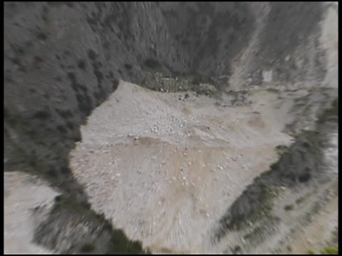 Marble Quarry At Carrara, Italy: Pull To Wide Shot video
