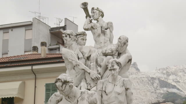 Marble statue, Italy video