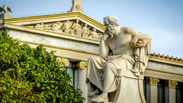 Marble Statue of the Great Greek Philosopher Socrates Marble Statue of the Great Greek Philosopher Socrates Time Lapse philosophy stock videos & royalty-free footage