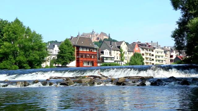 Marburg with Lahn river + Audio video