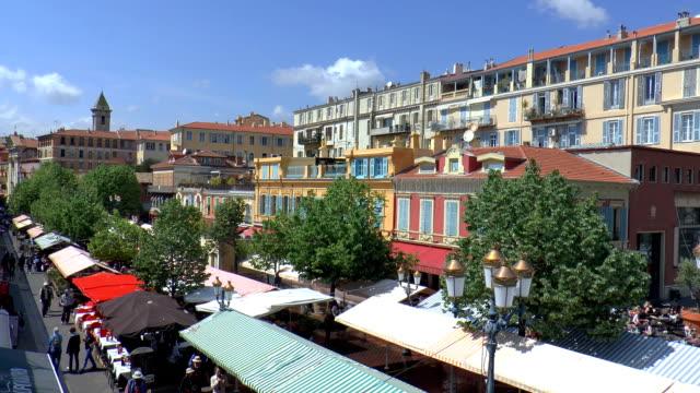 マルシェ予備フルール・ニース(フランス) - 花市場点の映像素材/bロール