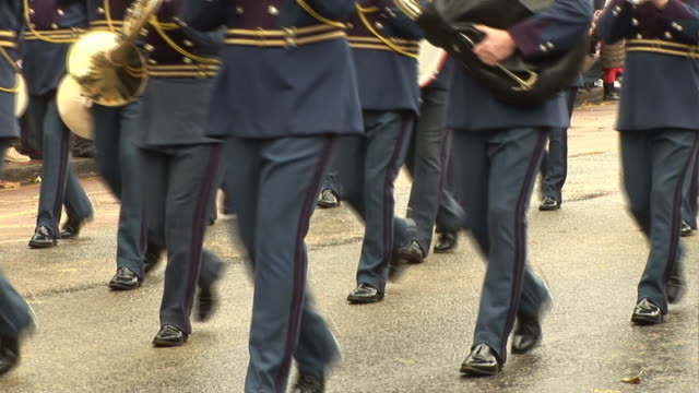 Marching Band at Parade on street video