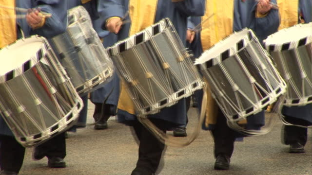Marching Band with drums at parade video