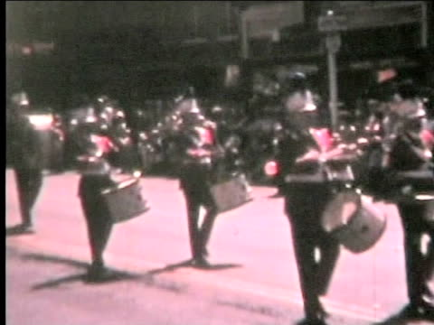 Marching band--from 1960's film video