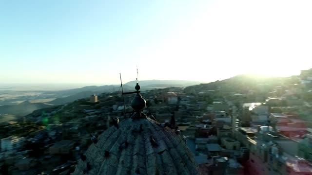 Mardin Minaret and Pigeons Aerial View Mardin Minaret and Pigeons Aerial View mardin stock videos & royalty-free footage