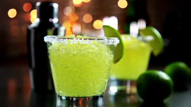 Margarita Margarita with lime and crushed ice margarita stock videos & royalty-free footage
