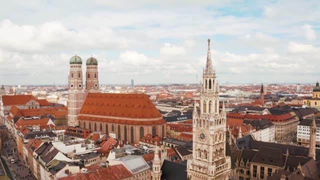 Marienplatz town hall and Frauenkirche in Munich