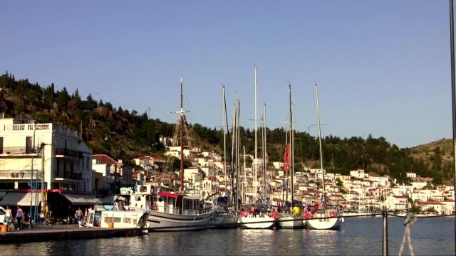 marina in Poros Greece video