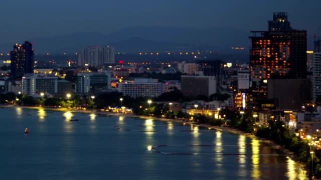 marina city på natt timelapse - pattaya bildbanksvideor och videomaterial från bakom kulisserna