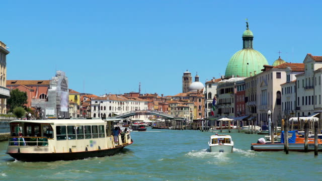 Marine tours in Italy, vaporetto sailing Grand Canal in Venice, sightseeing tour video