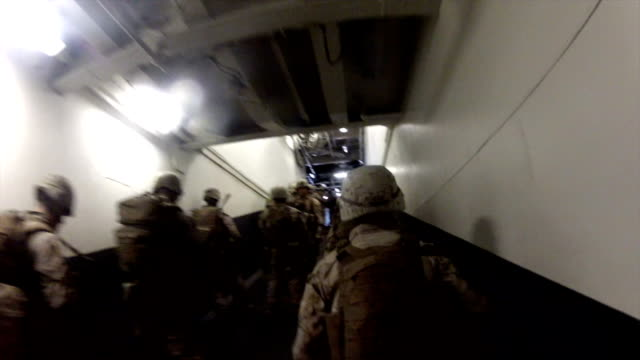 Marines In Navy Ship video
