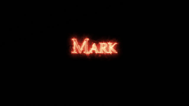 mark written with fire. loop - papa video stock e b–roll