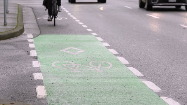 Marked City Center Cycle Lane video
