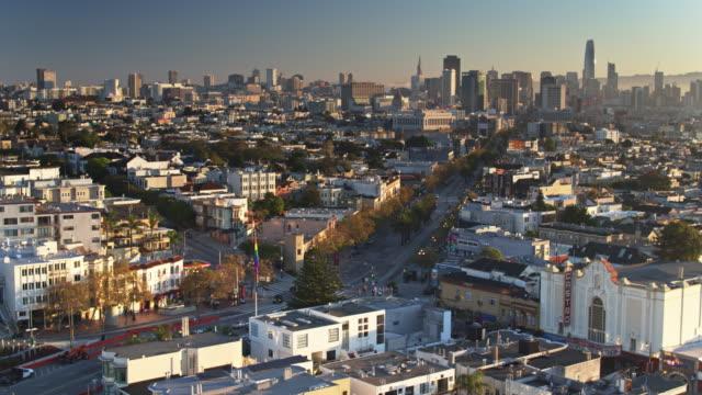 Market St & Castro St and Surrounding Neighborhood, San Francisco - Drone Shot video