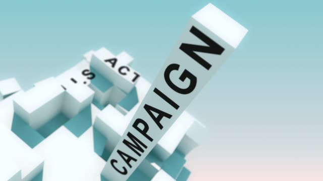 Marketing Effectiveness_1 words animated with cubes