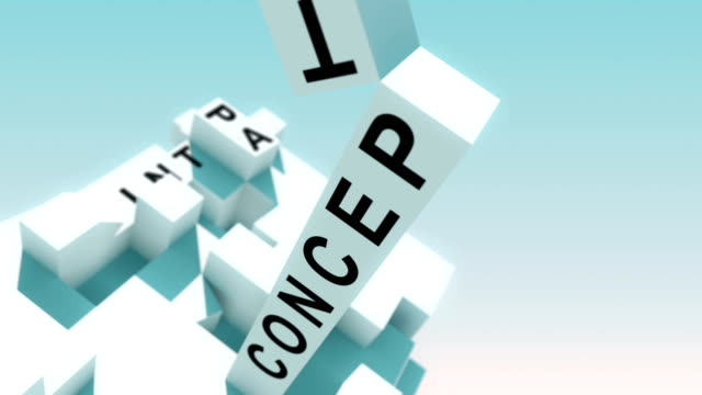 Marketing Solutions Words Animated With Cubes