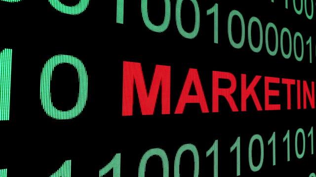Marketing text on binary data