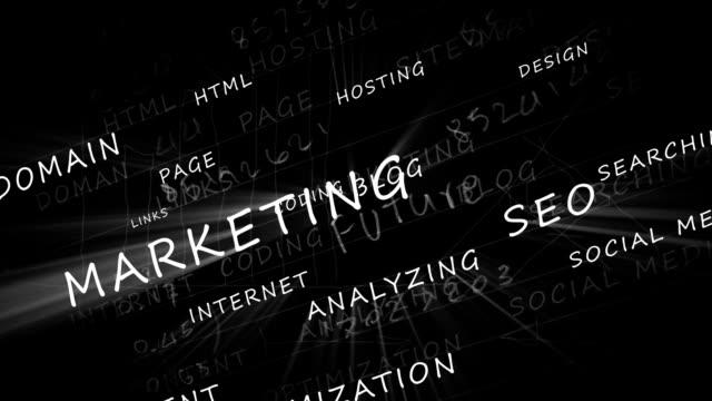 Marketing Words HD Video video