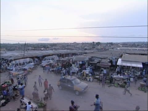 Marketplace in Ghana. video