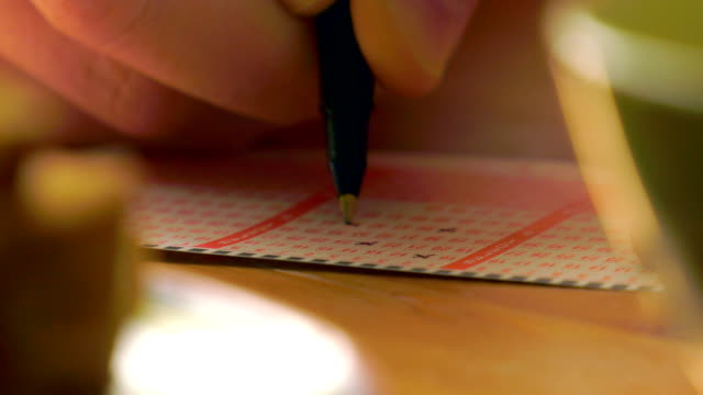 Marking the lottery tickets video