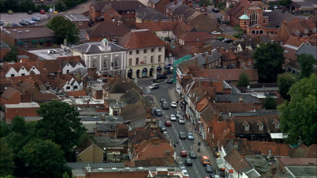 Marlow  - Aerial View - England, Buckinghamshire, Wycombe, United Kingdom video