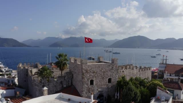 marmaris castle - morze egejskie filmów i materiałów b-roll