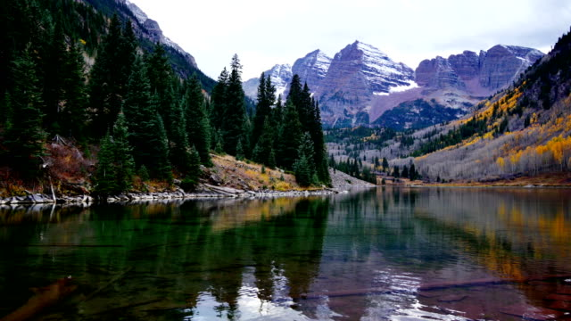 maroon bells, aspen - landscape video stock e b–roll