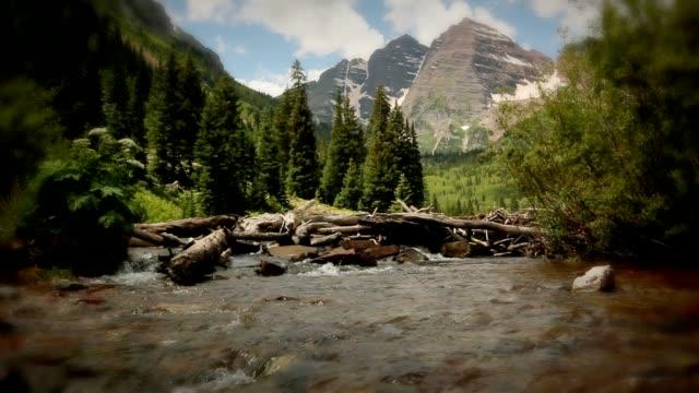 Maroon Bells National Park Colorado Mountains Wilderness Summer Creek Cascade video