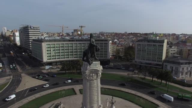 Marques de Pombal Square, Lisbon, Portugal video