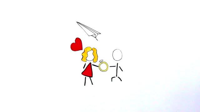 結婚提案ストップ モーション ビデオ