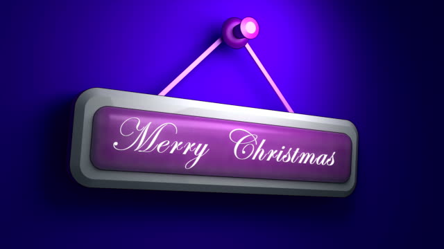 Marry Christmas animation on the wall video