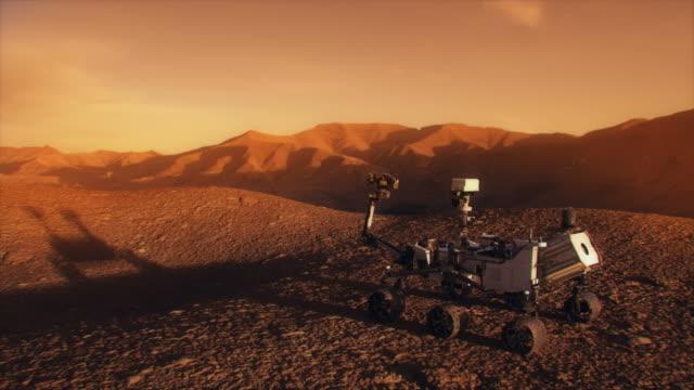 rover discovery su marte della nasa. - curiosità video stock e b–roll