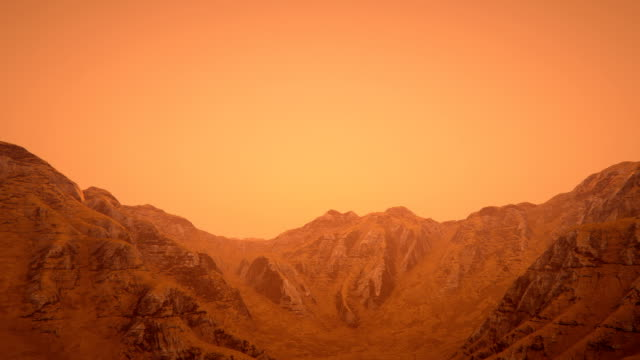 Mars landscape video