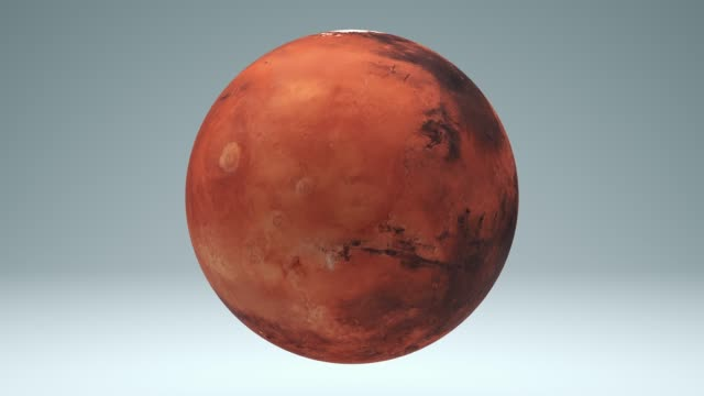 Mars Rotating Seamless 4K with Luma Matte