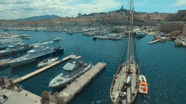 Marseille - vieux port - France - Clip vidéo 4K-MA025 - Vidéo