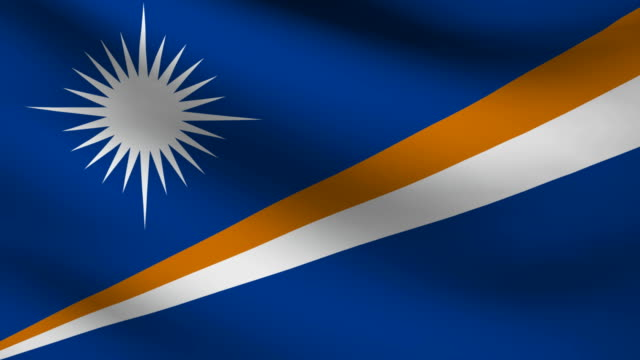 marshall islands flag. - majuro video stock e b–roll