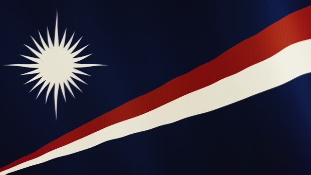 Marshall Islands flag waving animation. Full Screen. Symbol of the country video
