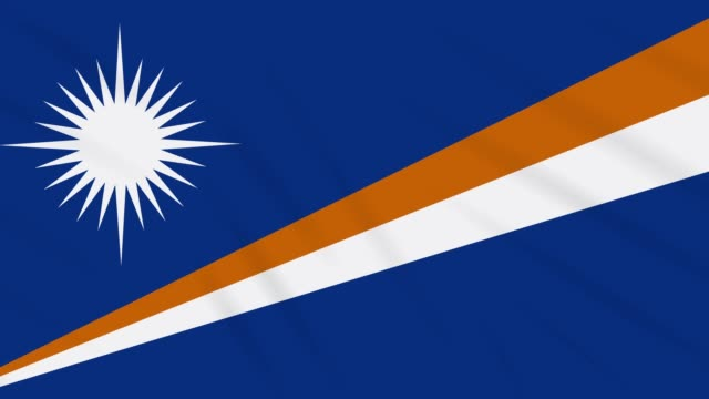 marshall islands flag waving cloth background loop - majuro video stock e b–roll